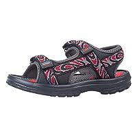 Mountain Warehouse Sand Boys Sandals - Neoprene Lined Kids Beach Shoes, Durable Sandal Shoes, Hook & Loop, Removable Heel Strap Summer Footwear - for Beach Walking