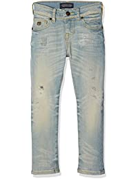 Scotch & Soda Shrunk Strummer-Golden Ticket Repaired, Jeans Garçon