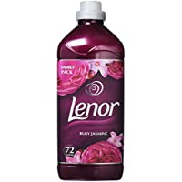 Lenor Fabric Conditioner Ruby Jasmine Scent Washes Anti-Ageing For Soft Clothes and Comfortable Feel, 1.8 L, Pack of 6