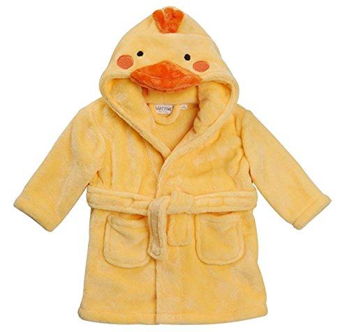 Baby Neuheit Bademantel Baby Maus Panda Duck Mit Kaputze Zifferblatt Verzierung 6-12 12-18 18-24 - Gelb Duck, 86-92