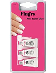 Fing'rs Colle à ongles Mini Super Glue, 1er Pack (1 x 3 pièces)