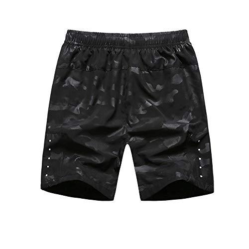 Wuxingqing Herren Radhosen Herren Mountainbike Fahrrad Shorts im Freien wasserabweisend Sport MTB Radfahren Laufen Shorts für MTB Running Gym Training (Color : Black, Size : XXXXL)
