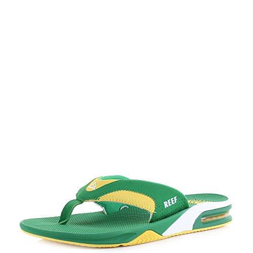 ea655c92bc7dc Reef Flip Flops - Reef Fanning Flip Flops - Green yellow - Buy Online in  Oman.