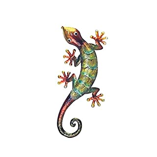 Art Deco Home - Wanddeko Gecko, Metall, 27 cm - 13052SG