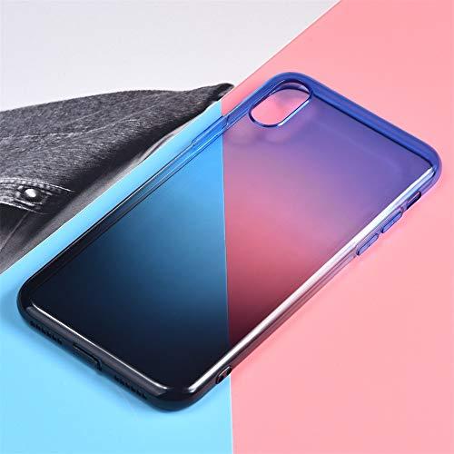 QINPIN TPU-Schutzhülle mit Farbverlauf Einzigartige Schutzhülle für iPhone XS Max 6,5 Zoll