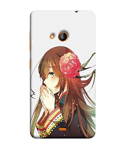 Printfidaa Microsoft Lumia 535, Microsoft Lumia 535 Dual SIM, Nokia Lumia 535 Back Cover Cute Girl Wearing Flower Printed Designer Back Case