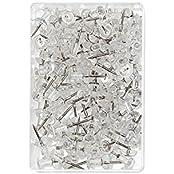 Wedo 54249 Pinnadeln Diabolo-Form in Klarsichtdose, 100 Stück, glasklar