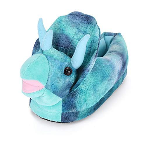 JK Triceratops Slippers Koala Bear Slippers Novelty Dinosaur Monster Plush Slippers for Indoor Bedroom Living Room Kids Adults