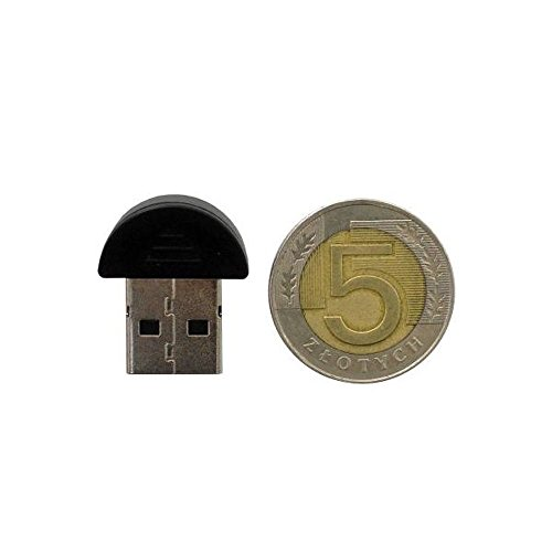 Cl? USB Bluetooth de haute qualit? (noir, mini) avec CD d'installation