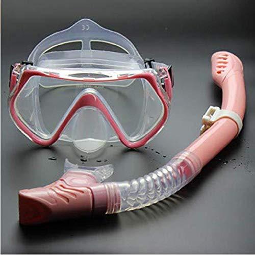 fyhtydsr Schnorchelset Tauchpaket - Tauchmaske Schnorchel - Antifog Dry Top Schwimmen Tauchen SiliconeForAdults Kids