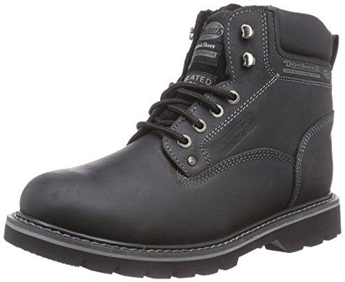 Dockers 23DA104 - Botas de Cuero para Hombre, Color Negro, Talla 43