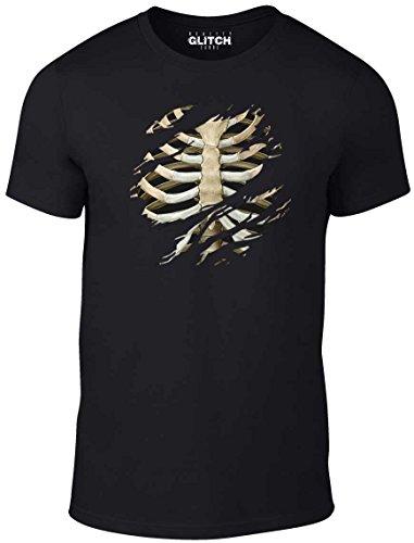 n Torn Rib Cage T-Shirt (Schwarz, Mittel) (Vampire Dress Up Twilight)