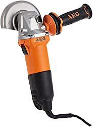 AEG WS10-115 Small Angle Grinder, Powerful 1000 watt motor, No load speed 11500 rpm