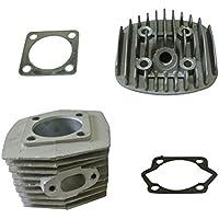 jrl 47 mm cilindro cabeza Set y Kit de pistón para motor de 80 cc motorizada