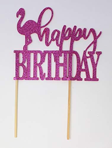 amingo-Thema, Happy Birthday, Kuchendekoration, 1 Stück, Geburtstag, Foto-Requisiten, Sommer-Party, Foto-Requisiten rose ()