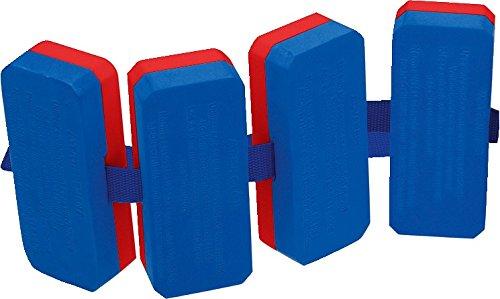 Sport-Thieme Schwimmgürtel | Für Kinder u. Erwachsene | Schwimmhilfe bis 30 kg | 4-teilige Schwimmer | Plastazote | Für Schwimmunterricht und Schwimmschulen | 100 g | Blau-Rot