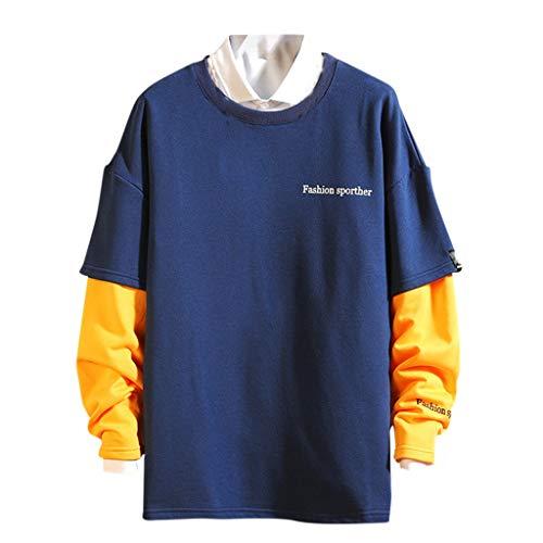 serliyNeuer Kapuzenjacken Männer Patchwork Farbe Block Pullover Mantel Trainingsanzug Freizeitjacke Hip Hop Streetwear Mode Herbst Winter Sweatshirt