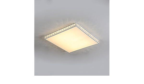 Plafoniera Rettangolare Cristallo : European k cristallo goccia smd film dome lampada quadrato ultra