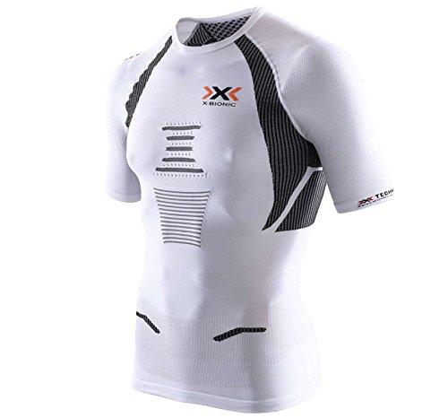 X-Bionic Erwachsene Funktionsbekleidung Running Man the Trick OW Shirt SH SL, White/Black, XL, O100049 (T-shirt Mens Black Erwachsene)