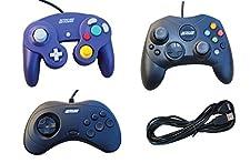 3 USB Classic Controllers - Gamecube, Sega Saturn, Microsoft Xbox (Original) for RetroPie, PC, HyperSpin, MAME, NeoGeo FBA Emulator, Raspberry Pi, Odroid Gamepad, with 10' USB Extension Cable!