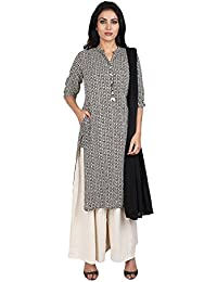 Vastra Vinod Women's Cotton Straight Salwar Suit Set - B0716RZYKV