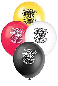 Unique Party- Globos de Látex Fiesta Pirata, 8 Unidades (40505)