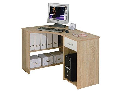 Inter Link Eckschreibtisch Computertisch Arbeitstisch Schreibtisch Laptoptisch MDF Sonoma-Eiche Nachbildung