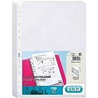 Elba 400086822 - Pack de 10 fundas polipropileno multitaladro, A4