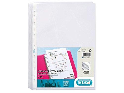 Elba 400086822 - Pack 10 fundas polipropileno multitaladro
