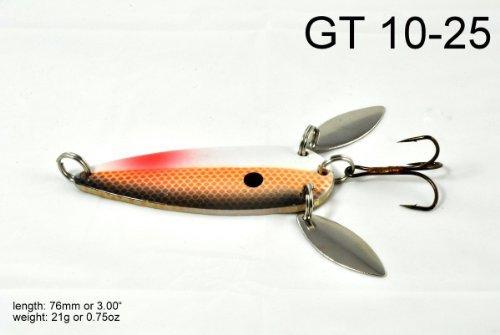 Akuna [GT 10 Zoll-Casting Löffel Angeln Köder für Northern Pike, lachs, Glasaugenbarsch und Forellenbarsch, braun Shad, von One Fünf Farbe (10-zoll-löffel)