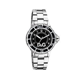 Dolce & Gabbana NCHOR Black DIAL SS BRC Case SS W/Black EN DW0511 – Reloj de Caballero de Cuarzo, Correa de Acero Inoxidable Color Plata