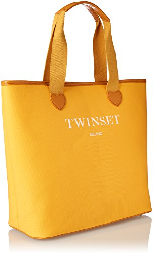 Twin Set As8pna, Borsa a Spalla Donna, 15x36x34 cm (W x H x L) Giallo (St.Roma Golden Yellow)