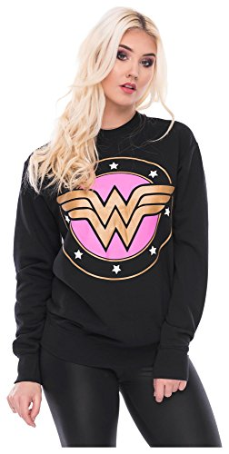 Sweater Wonderwoman Pulli Damen Wonder Woman Pullover Superwoman Sweatshirt Superhelden Comics Halloween Kostüm Karnevalskostüme Karneval Fasching M