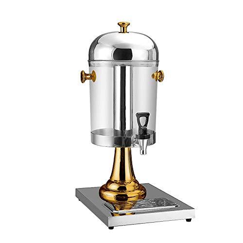 OUKANING Getränkespender 8L Beverage Dispenser Golden Single Headed Juice Pan Stainless Ice Tube Durable -