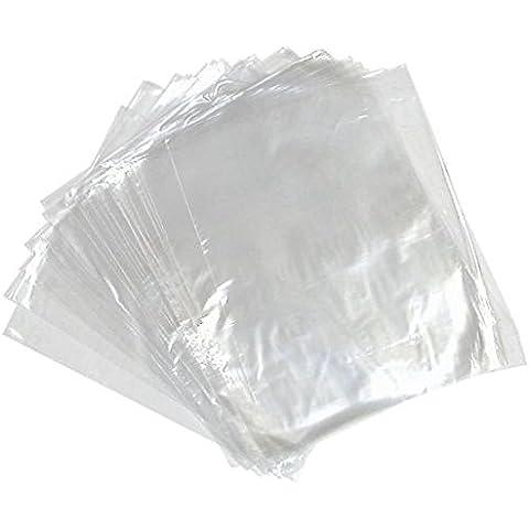 Múltiples Tamaños + cantidades: Strong bolsas de plástico de polietileno transparente 375x 500mm, 15