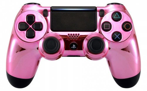 Chrom Pink PS4 Pro Rapid Fire Custom Modding Controller 40 Mods für Alle Major Shooter Spiele, fortnite, Schnell Scope Sniper Atem & Mehr (cuh-zct2u).