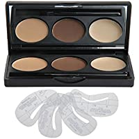 VONISA Makeup Powder 3 Colour Eyebrow Kit-Eye