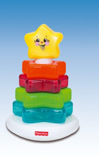 Mattel - Fisher-Price B0847-0 - Farbenstern Pyramide (0-chor)