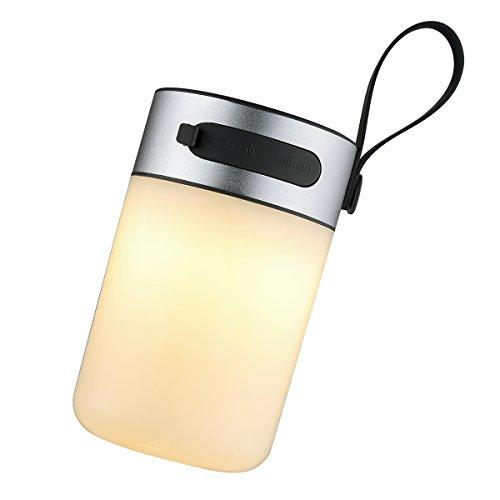 AMIR LED Nachtlicht, Tragbare LED Tischlampe, 3 Modi Campinglampe, Usb Nachladbares Licht mit Wasserdicht, 360 Grad Beleuchtun für Schlafzimmer, Wohnzimmer Reading oder Camping, etc