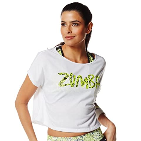 Zumba T-shirt de Fitness femmes Blanc Blanc cassé Xx-large