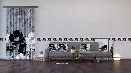 AG Design Blumen, Vorhänge für Wohnzimmer, Küche, Schlafzimmer, 140 x 245 cm