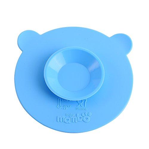 alen von Saugen Silikon Matten rutschfeste Baby-Schale Doppelseitig Spanferkel für Babys blau ()