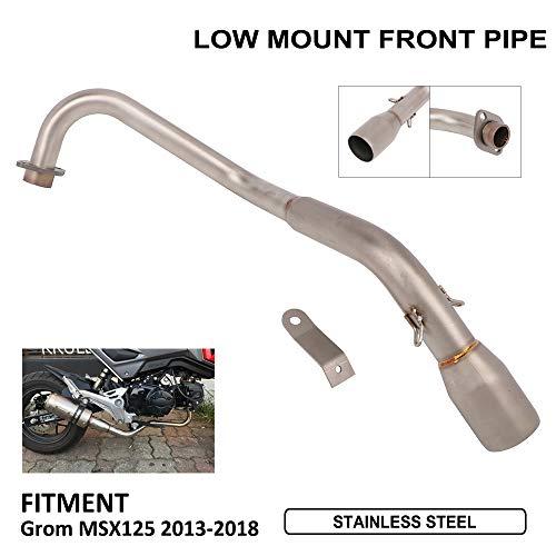 ge vorderes Rohr modifiziert Connect Edelstahl Low Mount Link Rohr für Honda Grom MSX125 MSX 125 2013-2018 13-18 Motorrad Dirt Bike ()