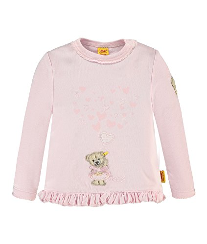 Steiff Baby-Mädchen Sweatshirt 1/1 Arm, Rosa (Barely Pink 2560), 86