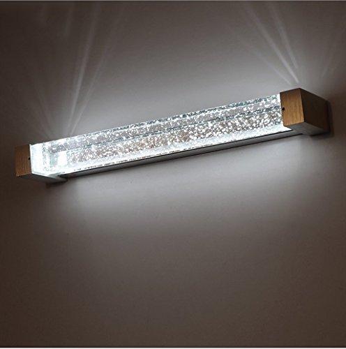 Wandlampe LED Badezimmer Moderne einfache Blase Spalte Kristall Spiegel Kabinett Lichter Make-up Spiegel Lampe Schlafzimmer Wand Lampe (größe : A-long34cm) (Kabinett Spalte)