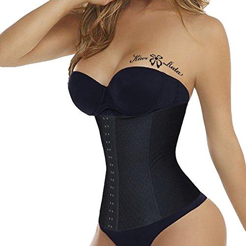 kiwi-rata-donna-corsetto-bustino-shapewear-modellante-cincher-nero-xl