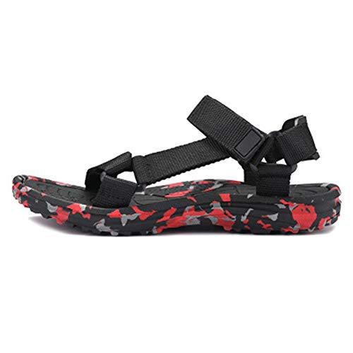 Männer Gladiator Sandalen flip Flops offene Toe Hook Loop plattform Strandschuhe im Sommer Anti geschoben leichte Pool Schuhe -