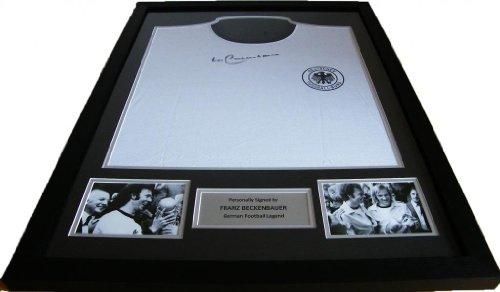 Sportagraphs-Franz-Beckenbauer-Genuine-Hand-Signed-Framed-Autograph-Germany-Shirt-COA