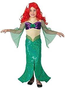 Clown Republic 85006/06 - Sirena de cuento de hadas para disfraz de niña, multicolor