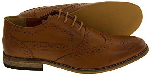 """Des classiques des hommes """"Jack 2"""" Faux cuir à lacets Derbies Chaussures Tan Matt"""